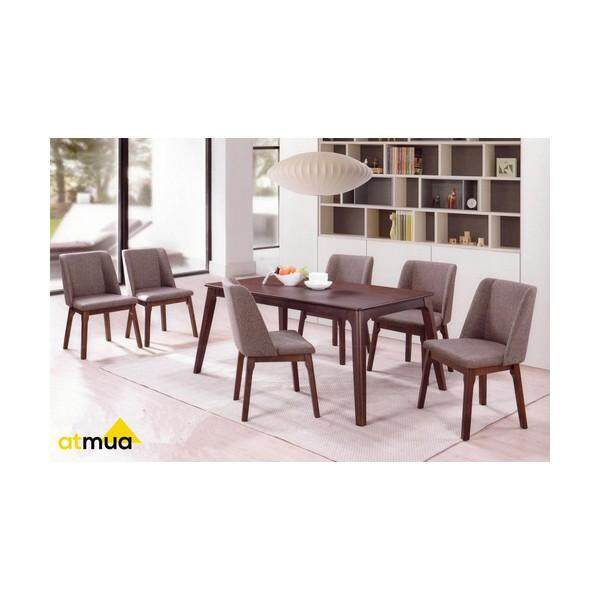 atmua bucket dining set 1 table 6 chairs modern style full