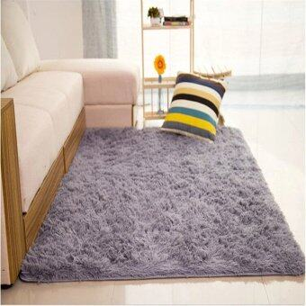 Audew Shaggy Anti-skid Carpets Rugs Floor Mat/Cover 80x120cm (Grey)