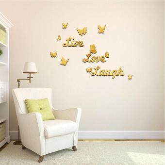 Aukey Live Laugh Love DIY Mural Wall Sticker Living Bed Home Decor