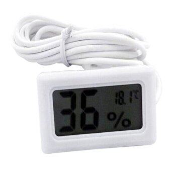 Harga Aukey Thermometer Hygrometer for Incubator Reptile Greenhouse(White)