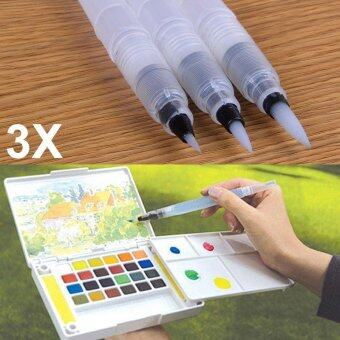 B-F 3Pcs Refillable Ink Color Pen Water Brush Painting Calligraphy Illustration Pen Office Stationery( Size:S+M+L )