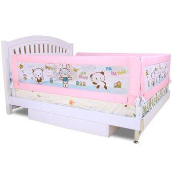 Harga Baby Bed Rail 1.5m Bed Rails Child Bed Rail Infant Bed Guard Rail Fence Safety Guard Twomother Pink Bear