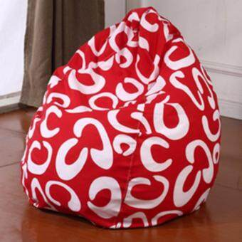Harga Baby or Kids flexible chair / sofa / bed ( Red with white C ) beanbag furniture