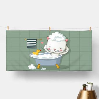 Bath cat skin-soft absorbent quick-drying baby adult bath towel superfine fiber bra beach resort towel