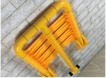 Bathroom Folding Chair with Barrier Stool Bathroom Armrest Elderly Safe Bath Wall Shower Stool 35*40CM