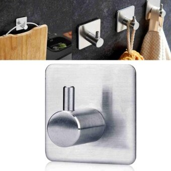 Bathroom Kitchen Towel Hanger Wall Single Hook Stainless Steel Self Adhesive