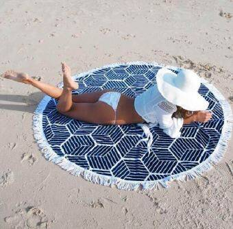 Harga Beach cotton multi-functional sun napkin beach towel