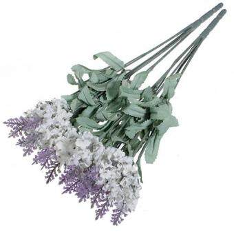 Beautiful Artificial Lavender Silk Flower Bouquet Wedding Home Party DIY Decor 10 Heads (Dark Purple