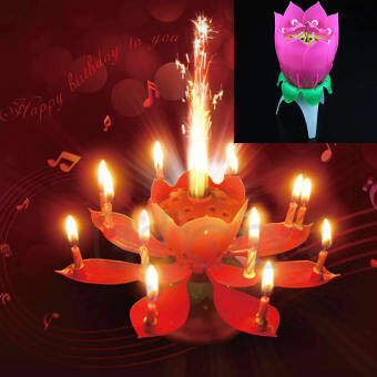 Features musical rose flower lotus birthday candle easy light with beautiful musical lotus flower happy birthday party candle lights kid gift intl mightylinksfo