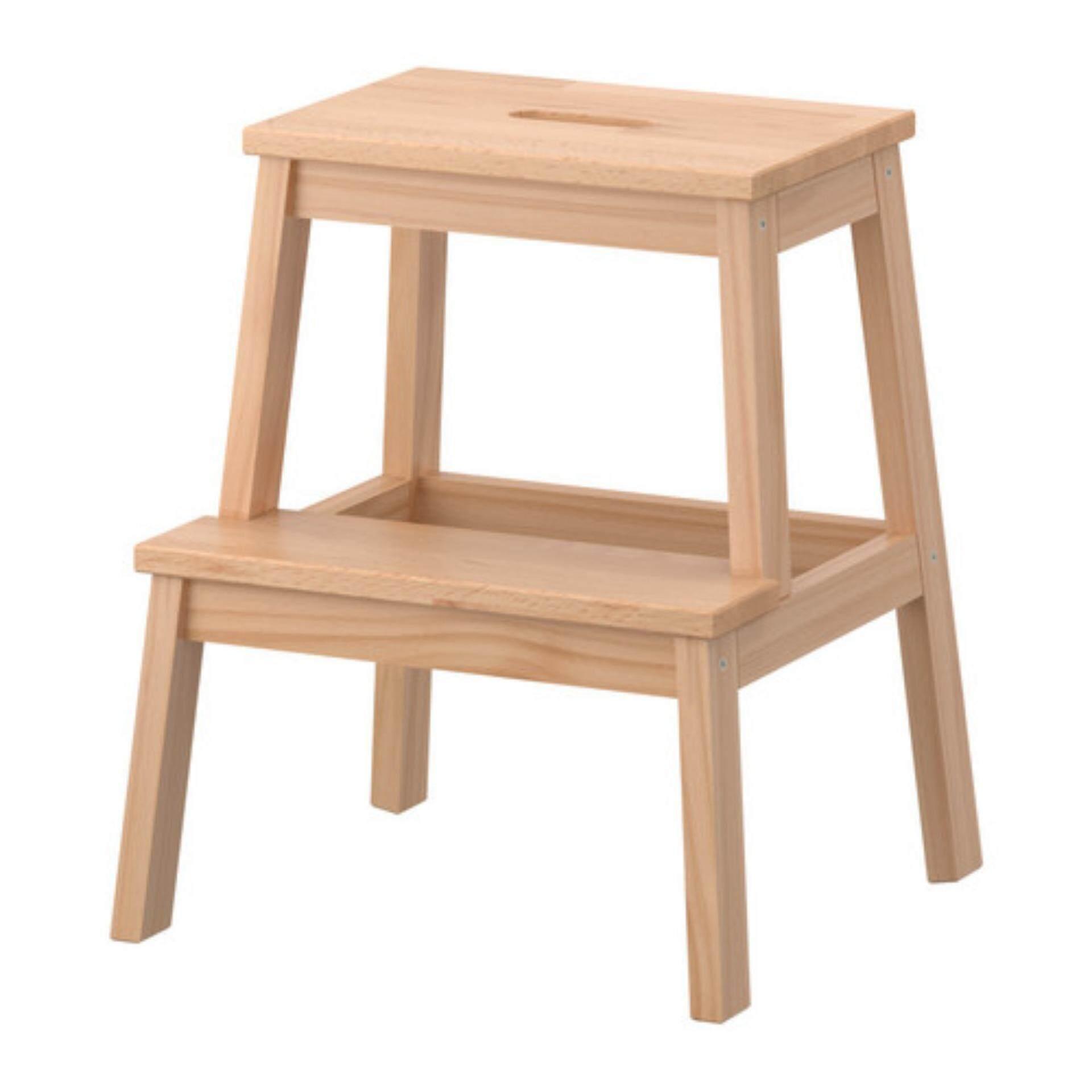 BEKVAM Multipurpose Step Stool Natural Solid Wood, Home Office, Kids,  School, Side