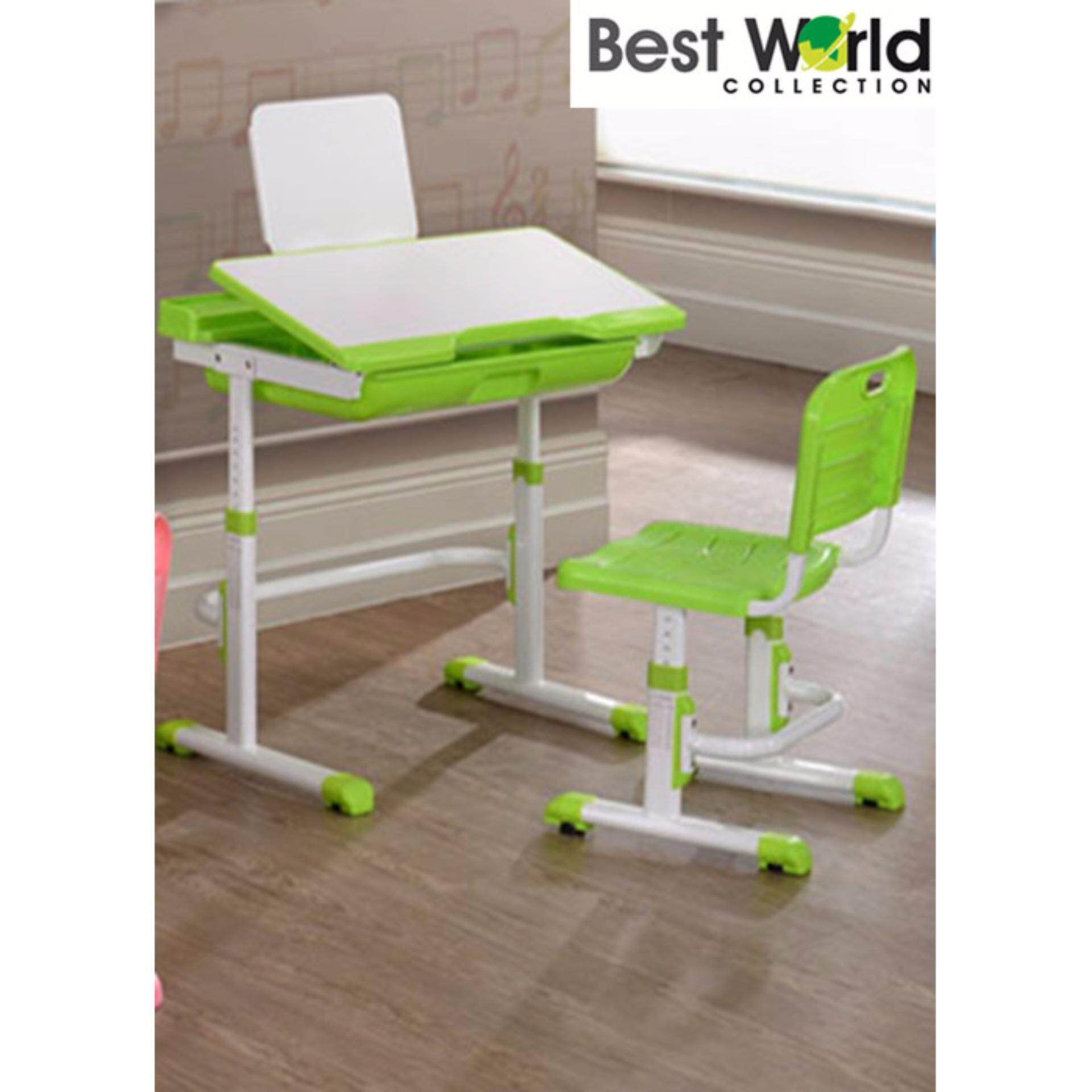 Best Adjule Study Desk With Chair Green Malaysia