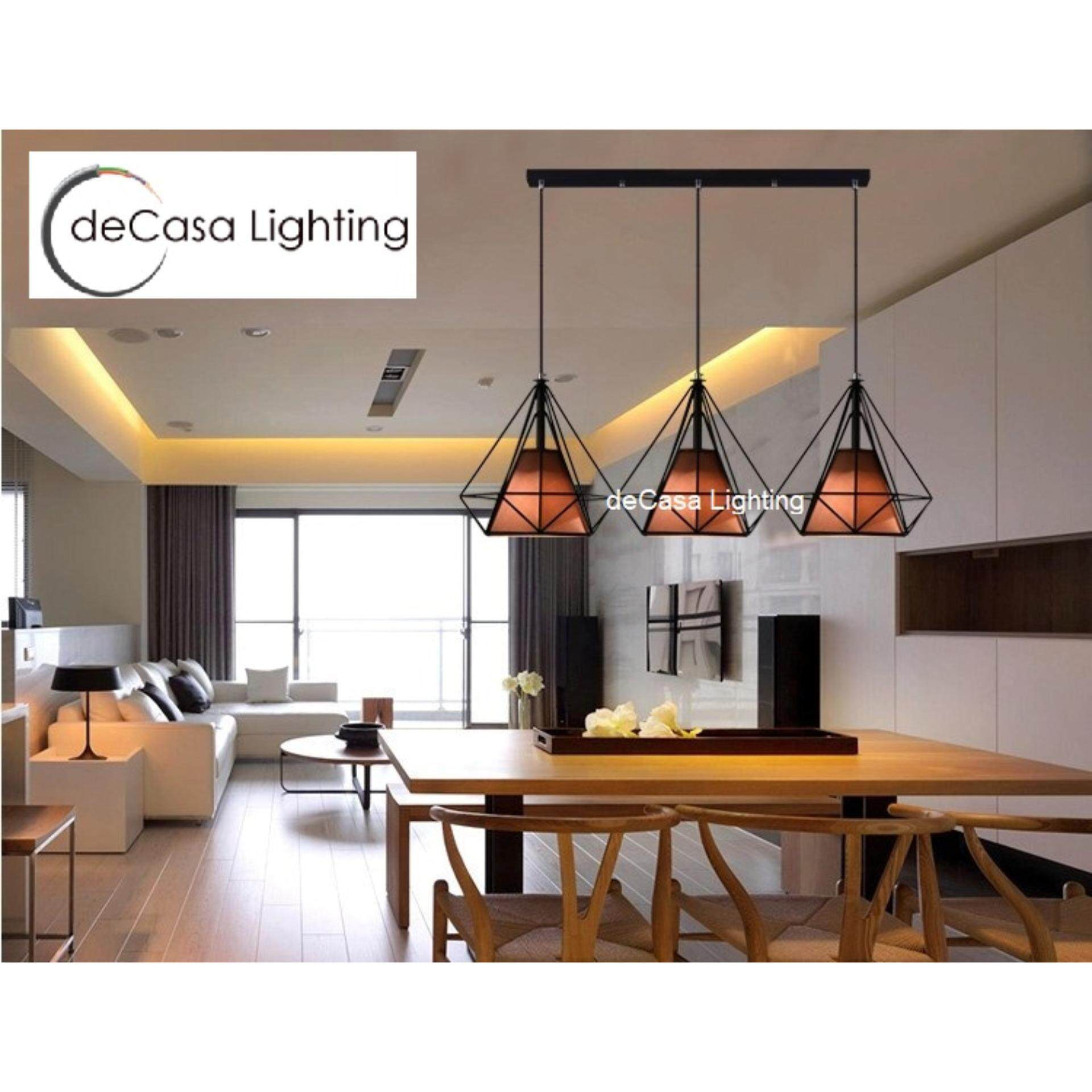Decorative Hanging Light Brown Colour Ceiling Light DECASA Ceiling Light Long Based Hanging Light LY