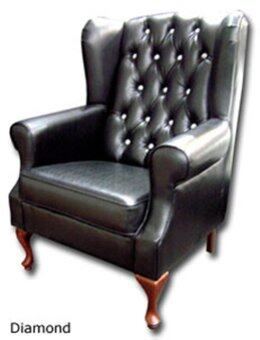 Big Jack Black Diamond Wing Chair