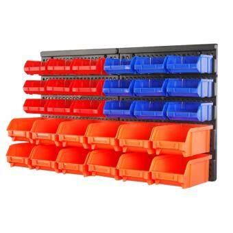 Bins Wall-Mount Parts Rack Screw Parts Storage Stacking Bins (Packof 30) Orange Red Blue AD1019