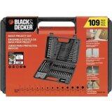 Black & Decker Screw Drill Bits Combination Accessory Set, 109-Piece