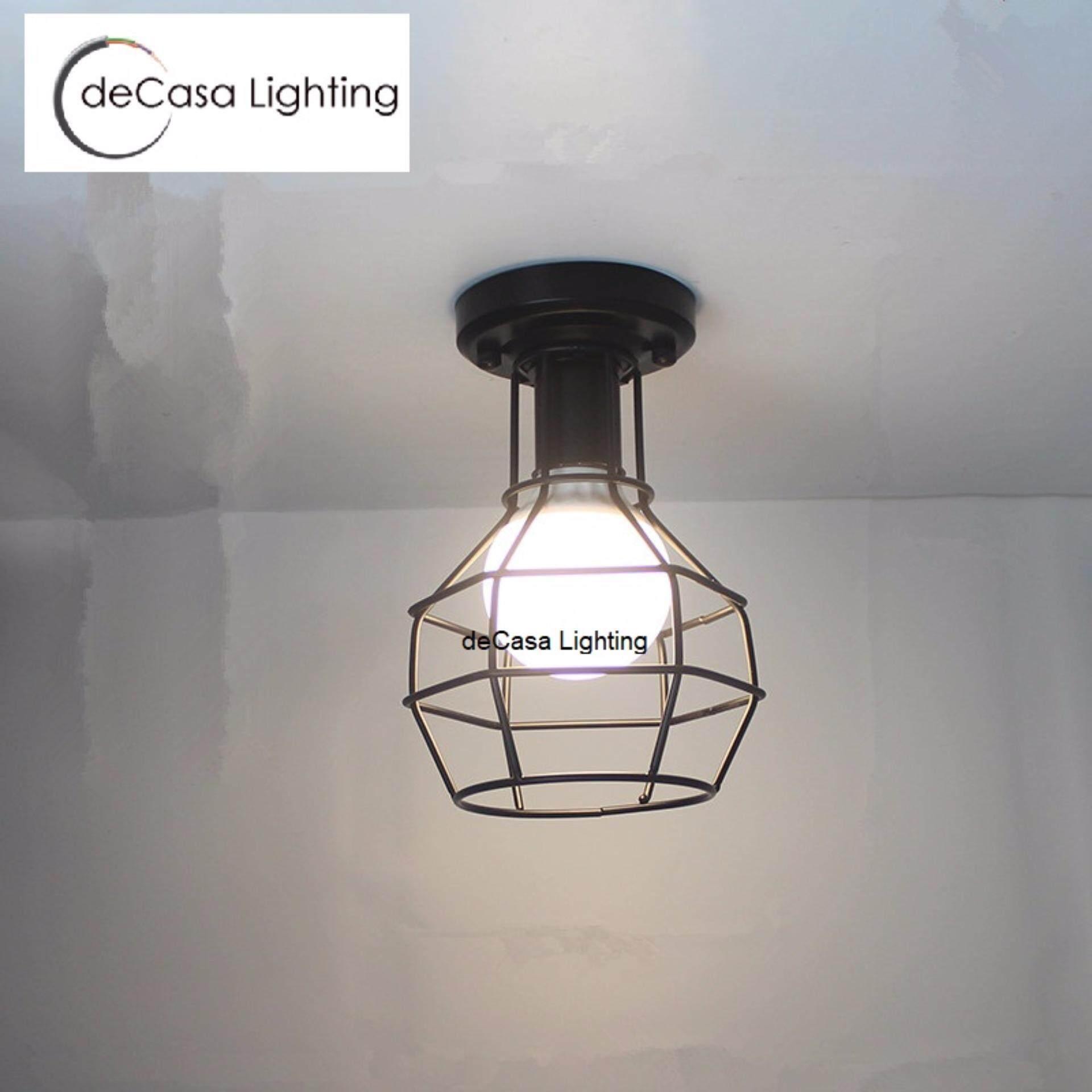 Black Loft Ceiling Light DECASA Hanging Light E27 Best Seller Ceiling Lamp (MH-0180-200-BK)
