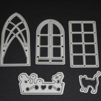 features 4pcs flower cutting dies stencil mould template for diy