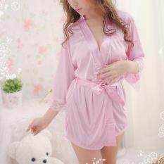 Berapa Harga Blackhorse Women S Summer Bathrobes Set Pink Di Tiongkok