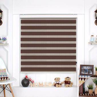 Harga [Blind Korea] Combi Blinds / Zebra Blinds / 100% Made in Korea /W61cm x H183cm / Blinds / Window Blinds / Korea Blinds / Combi 12colors