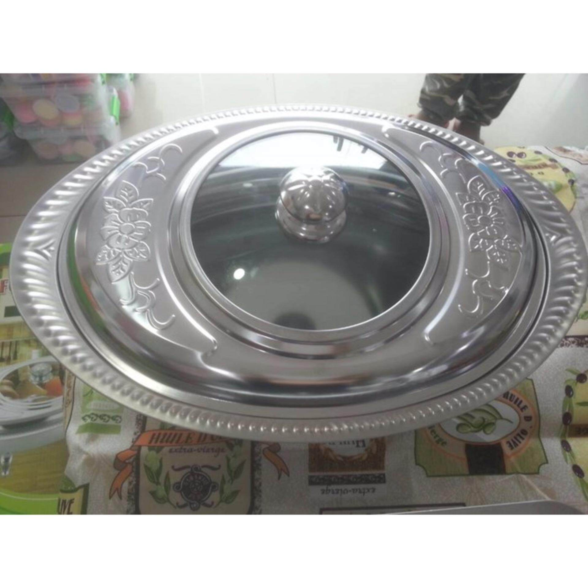 Fast Food Chafing Stainless Steel Buffet Food Container Dishes Oval