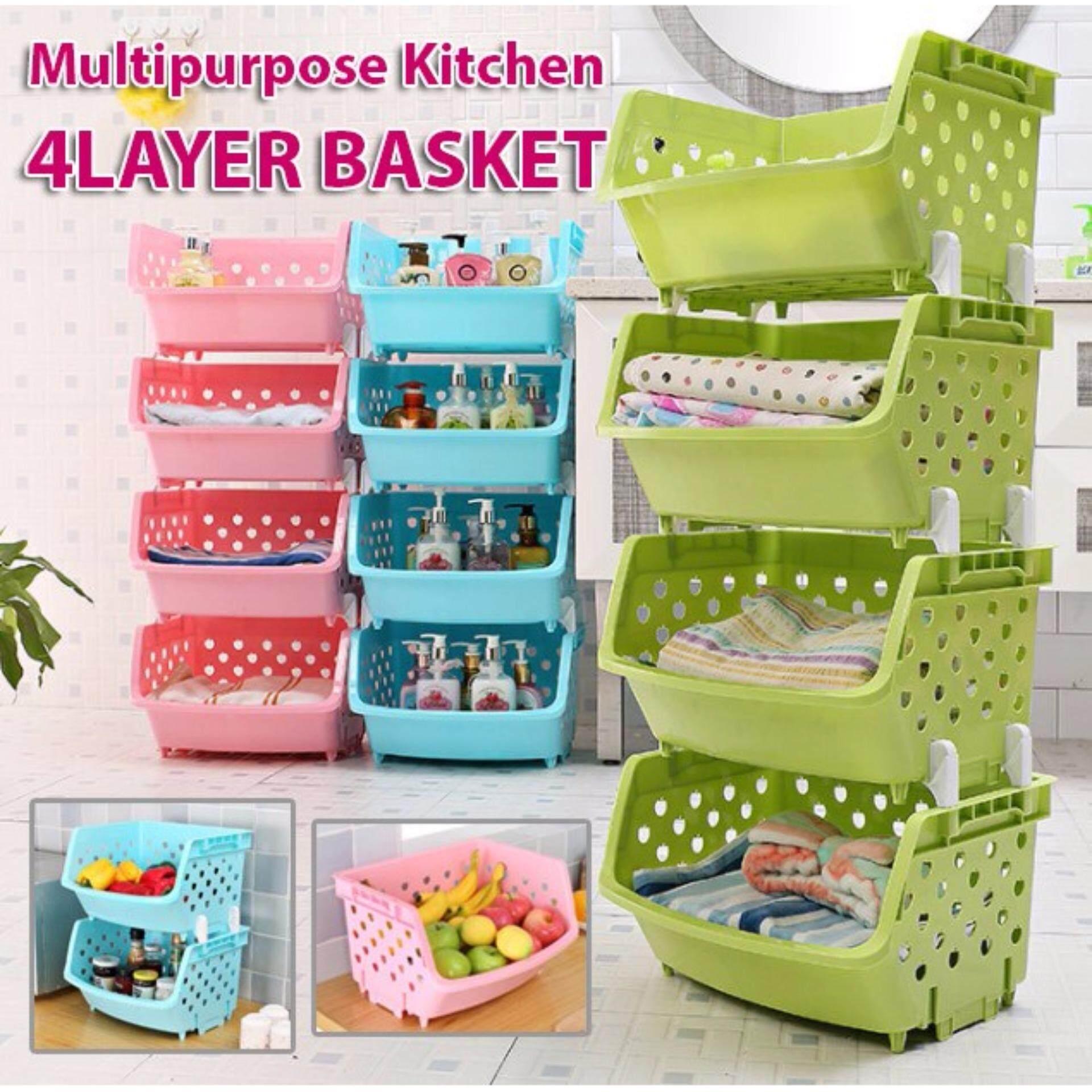 Multi-Purpose Layer 4 Layer Home Storage Rack Kitchen Storage Rack office Rack Kitchen Shelf