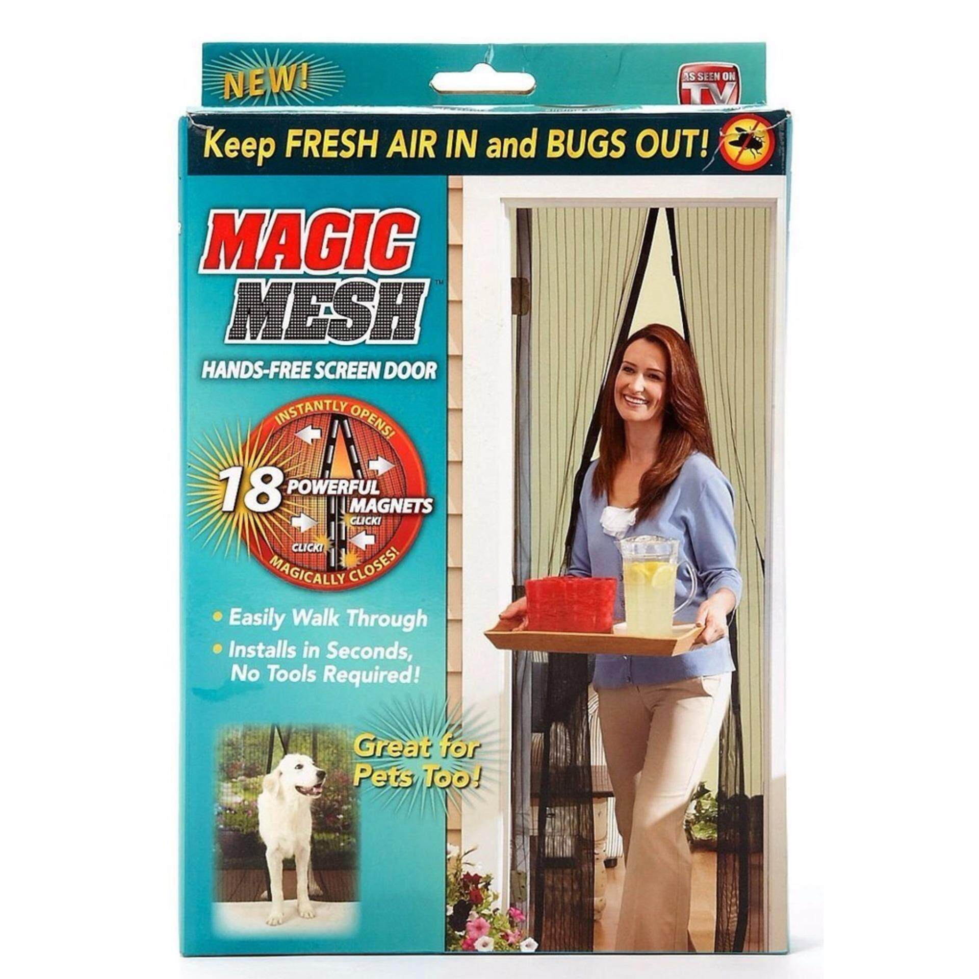 Bliss Magic Mesh Screen Door Magnetic Anti Mosquito Bug Doors Curtain net
