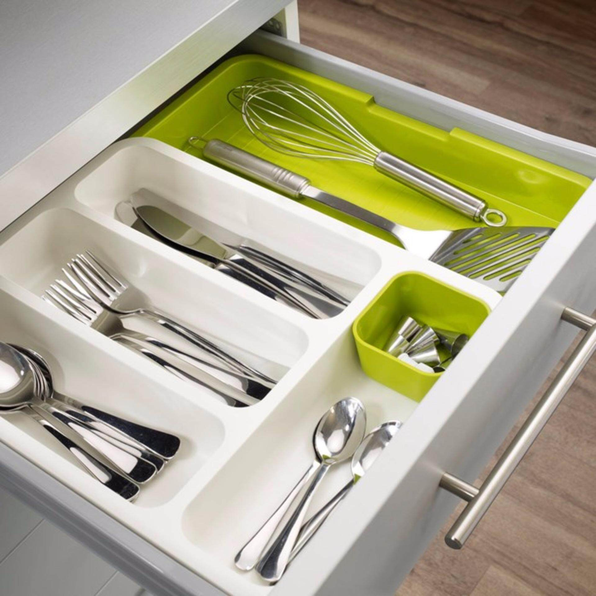 Resources Drawer Store - Expandable Tray For Kitchen Cutlery or Study Table Drawer