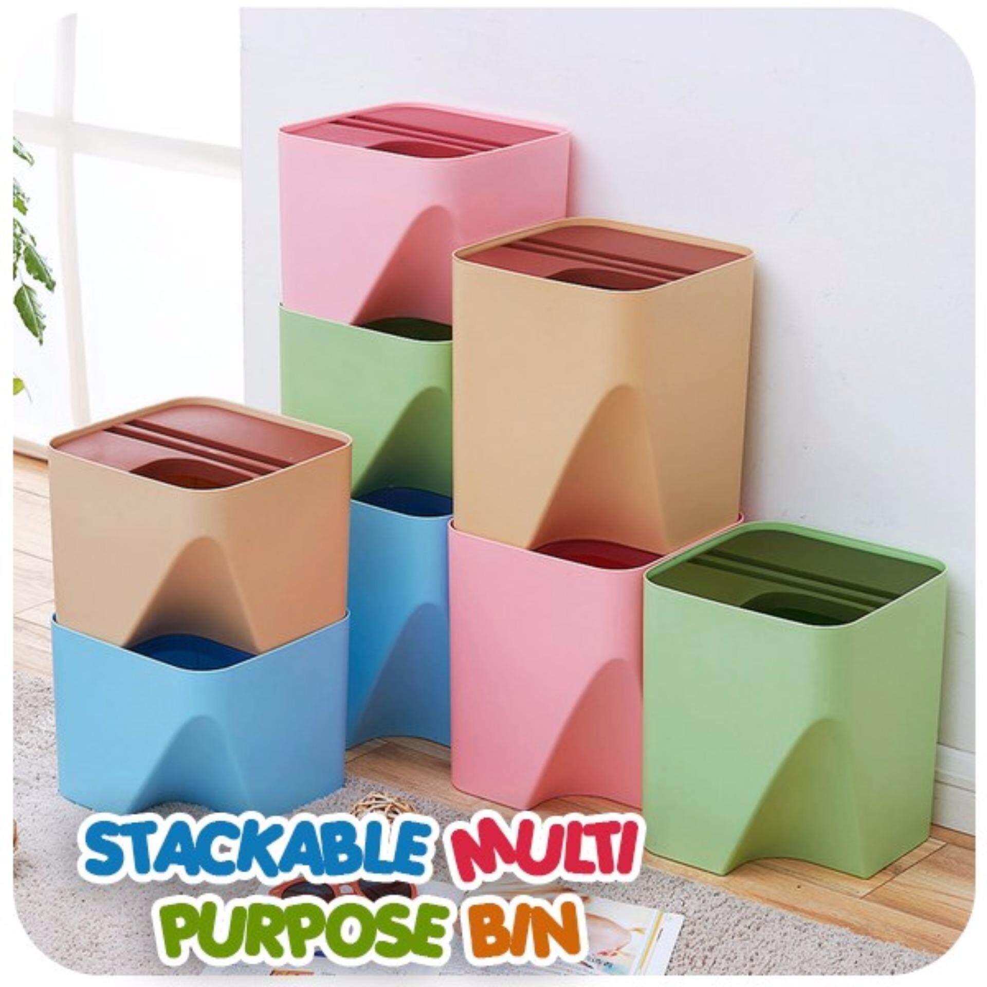 (Small - Random Colour)Stackable Multi Purpose Bin