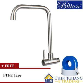 Fitur Air Kran Dapur Keran Angsa Kitchen Faucet Wall Mounted A 5m Z