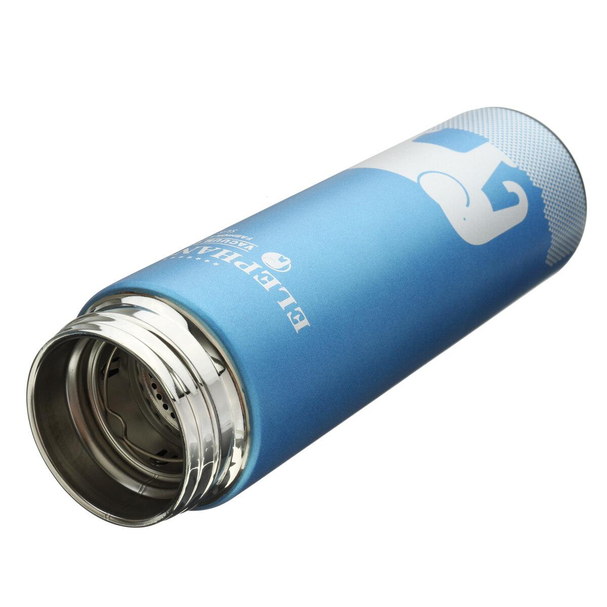 ... Biru Portable 304 Baja Anti Karat Termos Gelas Vacuum Perjalanan Teh Botol Air Kopi Mug- ...