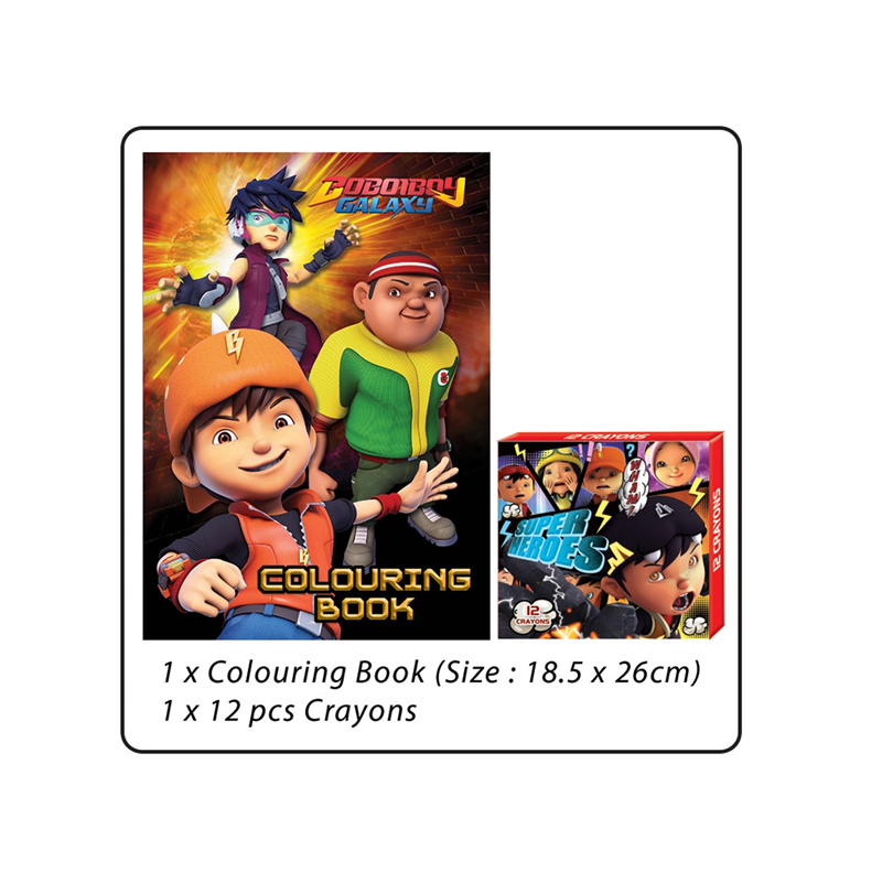 BoBoiBoy Colouring Book Set - Orange Colour