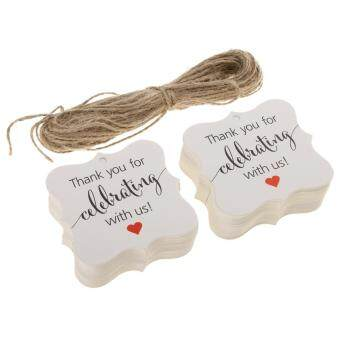 bolehdeals 100pcs thank you for celebrating with us gift tags hanging labels wedding birthday new year