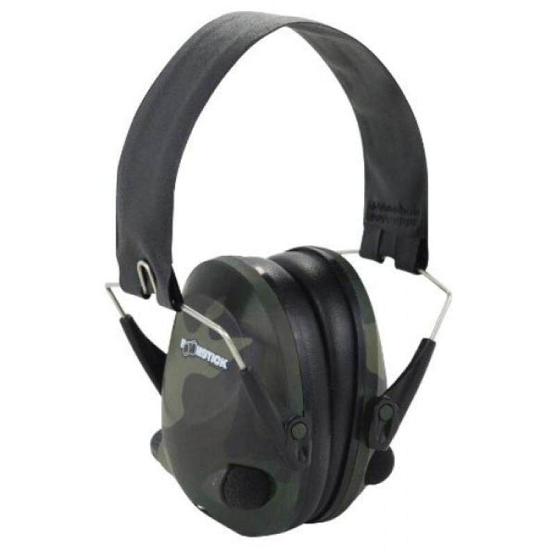 Boomstick Accessories Electronic Folding Earmuff Noise Safety Hearing Protection, Camouflage