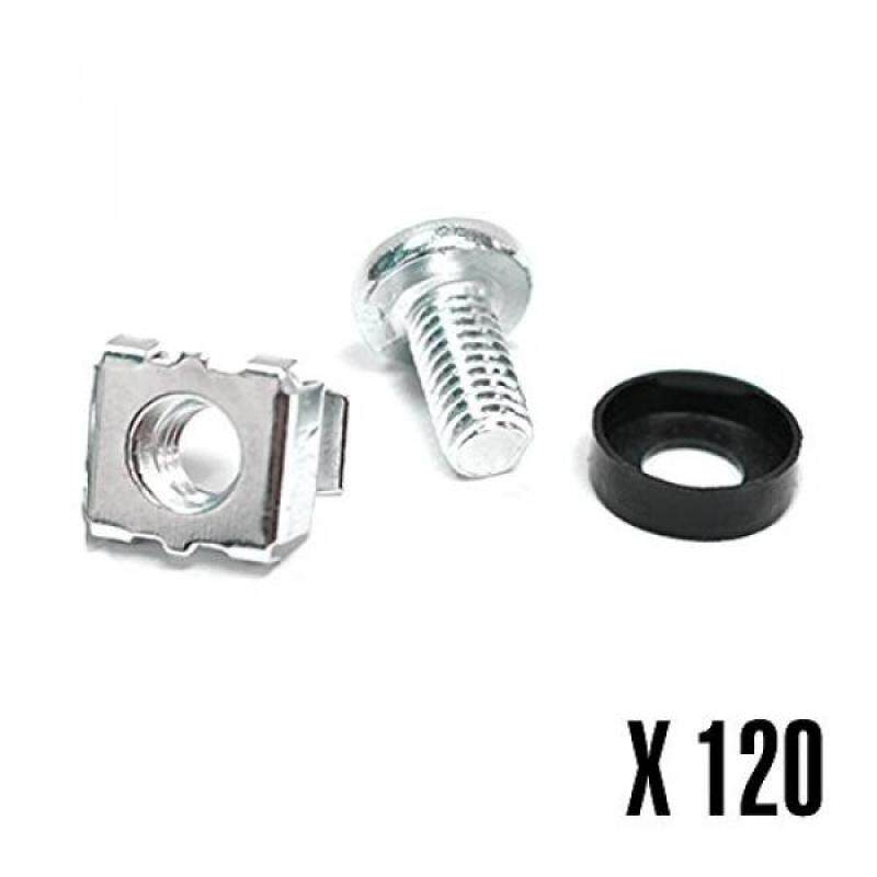 Buy [boran]Rosewill M6 Server Rack Cage Nuts & Mounting Screws for Server Shelves, Server Racks, and Cabinets - 120 Pack (RSA-M6-120) Malaysia