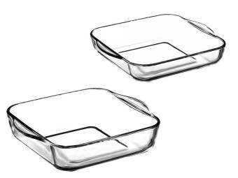 Harga Borcam Square Baking Dish Set (2pcs)