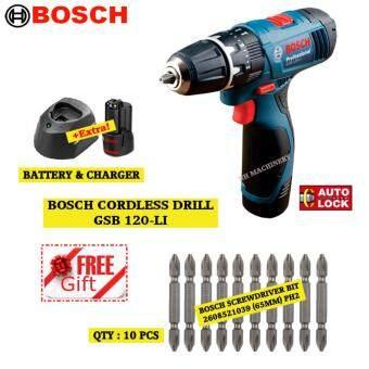 BOSCH GSB 120-LI Cordless Impact Drill FREE ScrewdriverBit