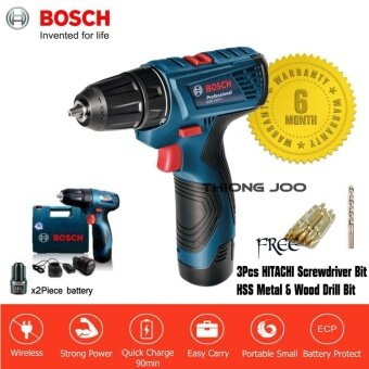 Bosch GSR 120-LI Cordless Drill Driver (Battery Screwdriver) [6 month warranty]