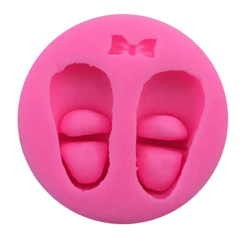 Ikatan Simpul Sepatu Bayi Silikon Cokelat Cetakan Fondan Kue Dekorasi Fimo Resin Tanah Liat Permen Soap Mould Dapur Panggang Alat-Internasional