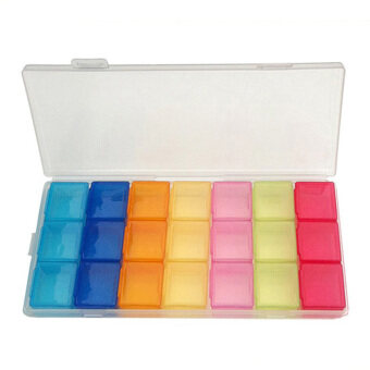 Box Case Organizer Week Storage Holder Case For Medicine Drug PillCase