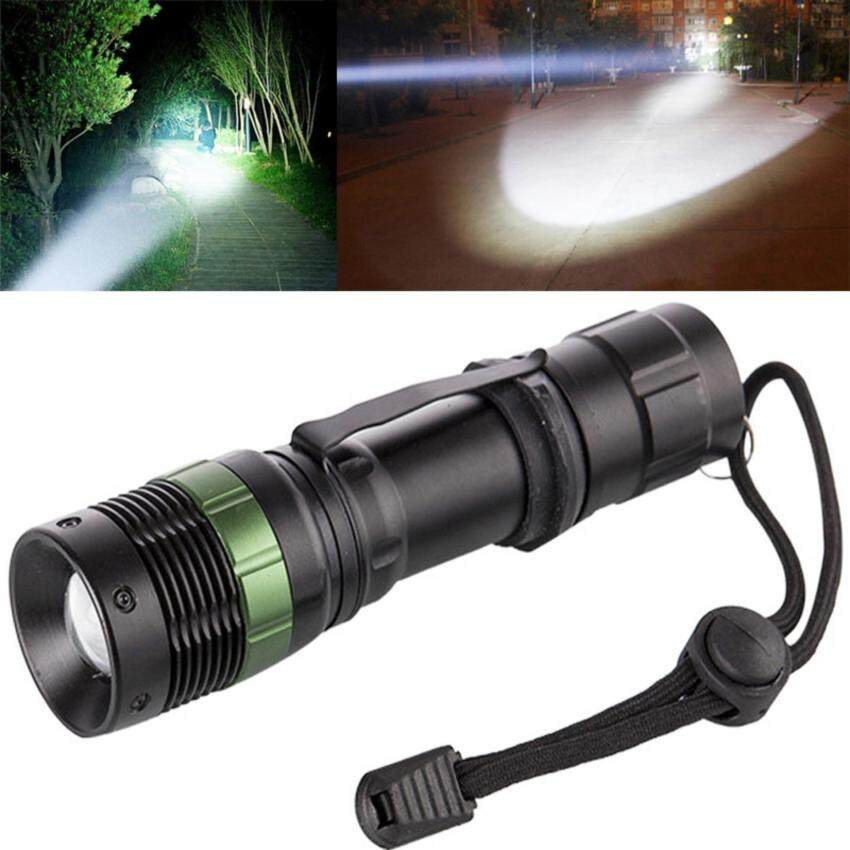 Harga Bright Zoomable CREE LED Flashlight Adjustable Portable TorchLight(White)