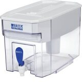 Brita 18 Cup UltraMax Water Dispenser with 1 Filter, BPA Free, White