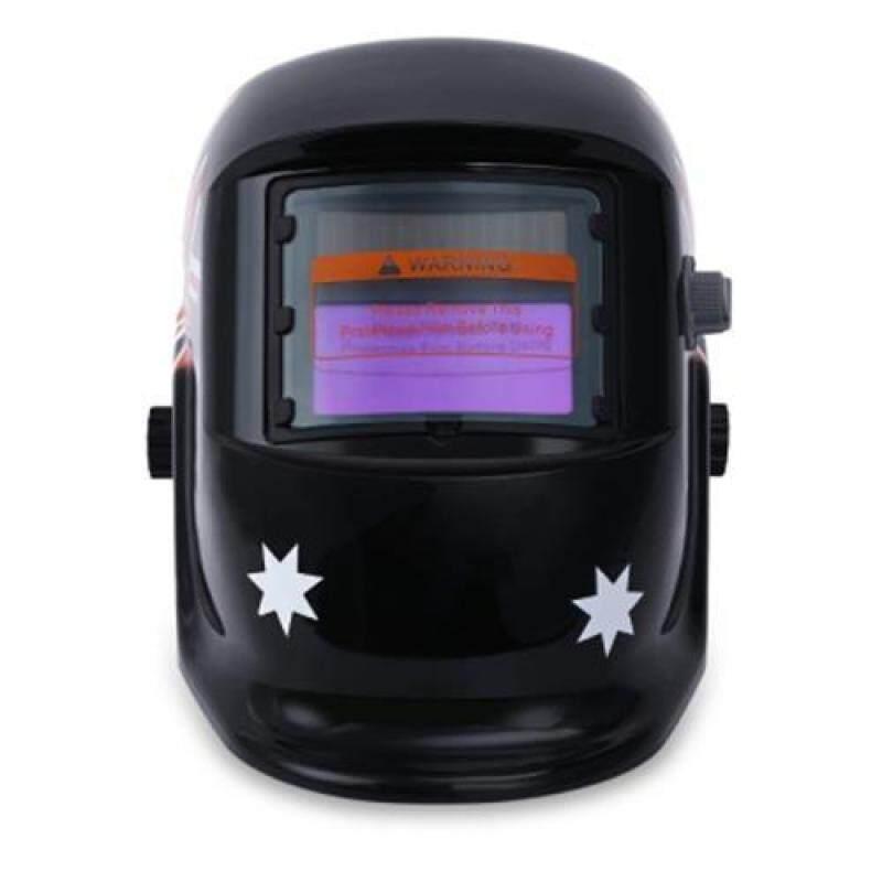 British Flag Pattern Auto Darkening Welding Helmet (Black)