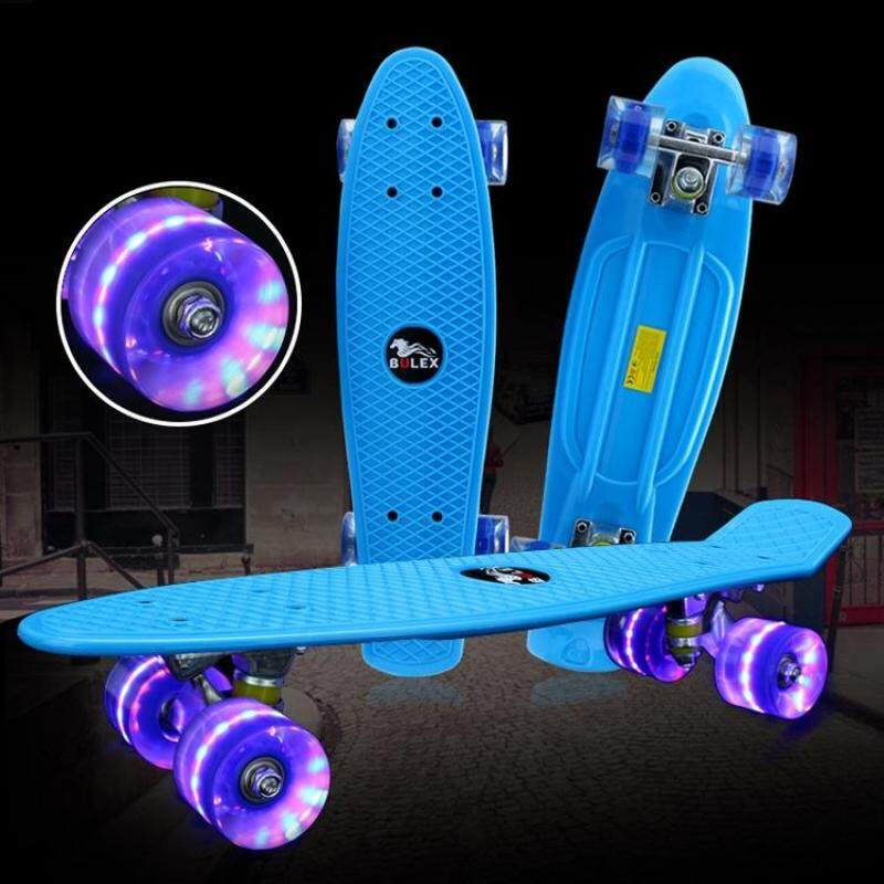 Buy BULEX Environment Protection PP Materials Children Four Wheels Skateboard Shining Fish Plate Pedal Scooter Malaysia