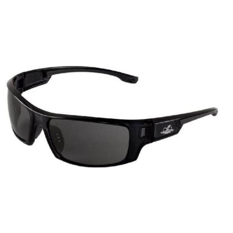Bullhead Safety Eyewear BH943AF Dorado, Crystal Black Frame, Smoke Anti-Fog Lens, Gray TPR Nose and Temple (1 Pair)