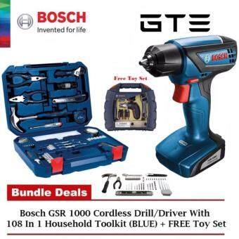BOSCH Professional GSR 1000 Cordless Drill Driver (Extra Screwdriver Bits  Set) + 108- 987e370f13