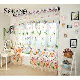 SOKANO CT014 Premium Quality Sheer Type Tulle Curtain (2 Panels)- Butterfly Design
