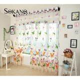 (RAYA 2019) SOKANO CT014 Premium Quality Sheer Type Tulle Curtain (2 Panels)- Butterfly Design
