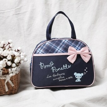 Butterfly knot green Bear Portable Bag with handle bag lunch bag