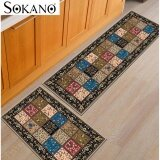 Buy 1 Free 1: SOKANO FM001 Classic Design Antislip Carpet (120cm x 40cm) Free (60 x 40cm) Soft Flannel Carpet Rug Floor Mat Kitchen Dapur and Bathroom