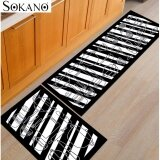 Buy 1 Free 1: SOKANO FM004 Kitchen Utensils Design Antislip Carpet (120cm x 40cm) Free (60 x 40cm) Soft Flannel Carpet Rug Floor Mat Kitchen Dapur and Bathroom